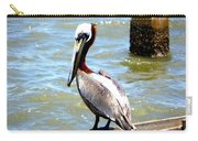Brown Pelican And Blue Seas Carry-all Pouch