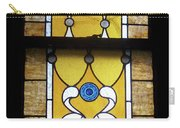 Brown Stained Glass Window Carry-all Pouch