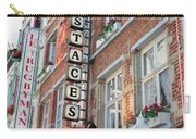 Brussels - Place Sainte Catherine Restaurants Carry-all Pouch by Carol Groenen