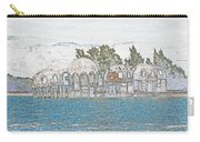 Bubble House In Pencil Skech Carry-all Pouch