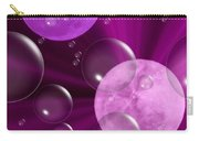 Bubbles And Moons - Purple Abstract Carry-all Pouch
