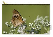 Buckeye Butterfly And Lesser Snakeroot Wildflowers Carry-all Pouch