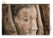 Buddha Head Strangled By The Roots  Carry-all Pouch