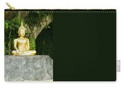 Buddha Statue Under Green Tree In Meditative Posture Carry-all Pouch