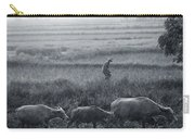 Buffalo And Monsoon Rain Carry-all Pouch by Anonymous