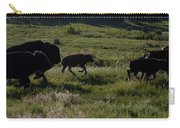 Buffalo Bison Roaming In Custer State Park Sd.-1 Carry-all Pouch