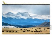Buffalo Herd Painterly Carry-all Pouch