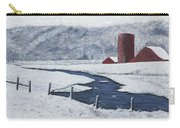 Buffalo River Valley In Snow Carry-all Pouch