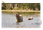 Bugling Bull Elk And Calf Colorado Rut 4 Carry-all Pouch