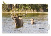 Bugling Bull Elk And Calf Colorado Rut 5 Carry-all Pouch