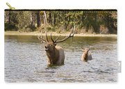 Bugling Bull Elk And Calf Colorado Rut  Carry-all Pouch