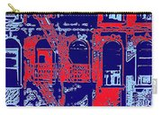 Building Facade In Blue And Red Carry-all Pouch