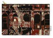 Building Facade In Brown And Red Carry-all Pouch