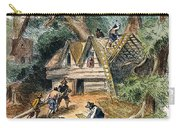 Building Houses, 17th C Carry-all Pouch