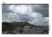 Buildings Cover The Lower Section Of A Hill That Has A Temple At The Top With Clouds Covering The Sk Carry-all Pouch