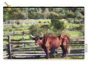 Bull In Pasture Carry-all Pouch by Susan Savad