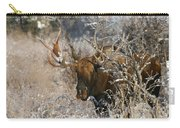 Bull In The Snow Carry-all Pouch