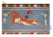 Bull-leaping Fresco From Minoan Culture Carry-all Pouch