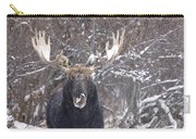 Bull Moose In Winter Carry-all Pouch