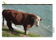 Bull On The Edge Carry-all Pouch
