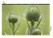 Bull Or Spear Thistle Buds- Cirsium Vulgare Carry-all Pouch