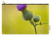 Bull Thistle With Bumble Bee Carry-all Pouch