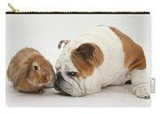 Bulldog And Lionhead-cross Rabbit Carry-all Pouch