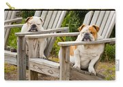 Bulldogs Relaxing At The Beach Carry-all Pouch