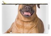 Bullmastiff Dog On White Background Carry-all Pouch