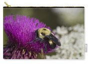 Bumble Bee And Bristle Thistle Carry-all Pouch