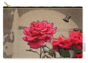 Bumble Bee And Rose Carry-all Pouch