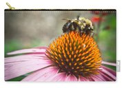 Bumble Bee Feeding On A Coneflower Carry-all Pouch
