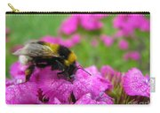Bumble Bee Searching The Pink Flower Carry-all Pouch