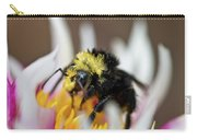 Bumblebee Attacking Flower Carry-all Pouch