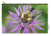 Bumblebee On A Purple Flower Carry-all Pouch