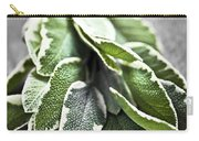 Bunch Of Fresh Sage Carry-all Pouch by Elena Elisseeva