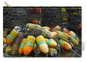 Buoys And Crabpots On The Oregon Coast Carry-all Pouch by Carol Leigh
