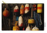 Buoys On Fishing Shack - Greeting Card Carry-all Pouch