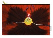Burgandy Pansy Carry-all Pouch