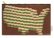 Burger Town Usa Map Brown Carry-all Pouch