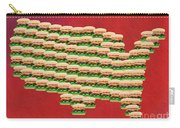 Burger Town Usa Map Red Carry-all Pouch