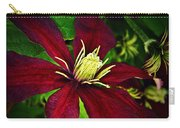 Burgundy Clematis Carry-all Pouch