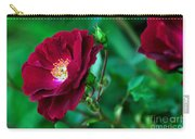 Burgundy Iceberg Rose Carry-all Pouch