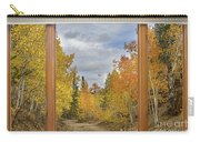 Burning Autumn Aspens Back Country Colorado Window View Carry-all Pouch