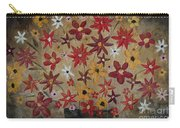 Burst Of Flowers Yellow And Red Carry-all Pouch