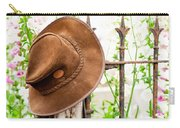 Bush Hat On Railing Carry-all Pouch