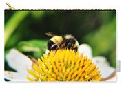 Busy Bee Collecting On Echinacea Pow Wow Carry-all Pouch