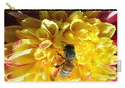 Busy Bee On Yellow Flower Carry-all Pouch