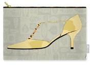 Butter Yellow Leather T Strap Heel Carry-all Pouch