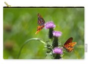 Butterflies On Thistles Carry-all Pouch